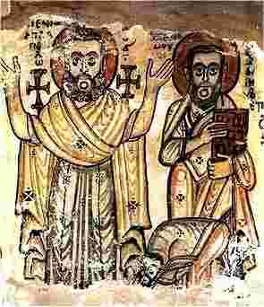 egypte saqqarah monastere-jeremie-fresque
